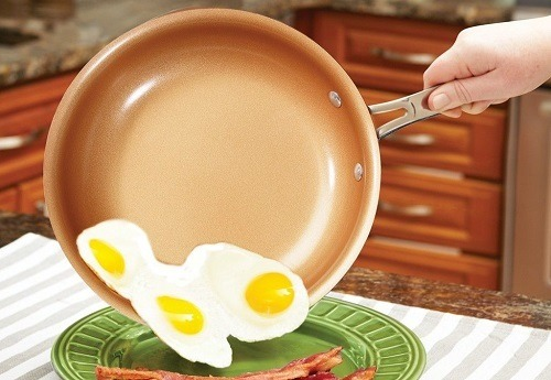 Using Almond Home Copper Frying Pan